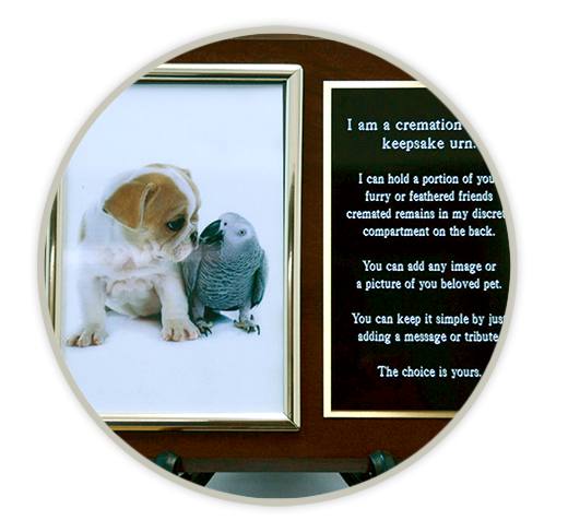 Pet Cremation Plaque Keepsake Urn