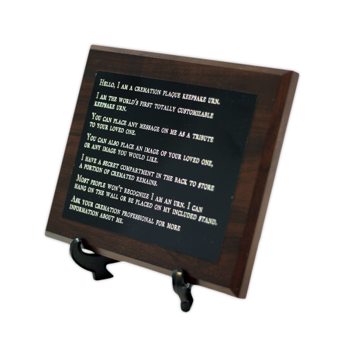 Custom Cremation Plaque Keepsake