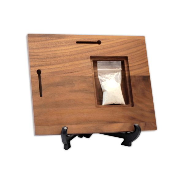 Walnut Cremain Keepsake Urn Storage