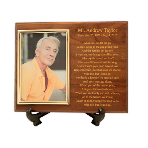 Cremation Plaque Keepsake Picture Urn
