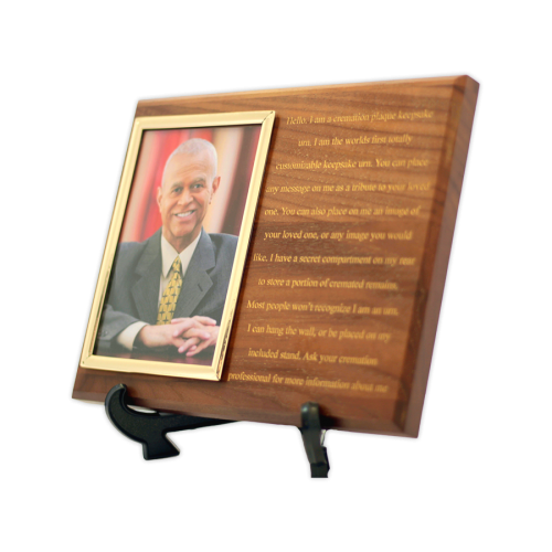 Custom Cremation Plaque with Photo