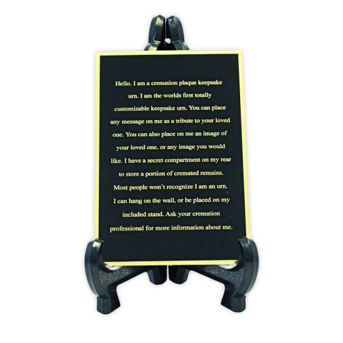 Custom Engraved Memorial Plaque Black
