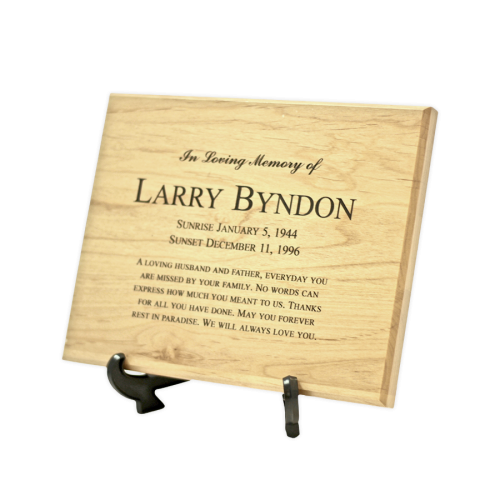 Red Alder Cremation Plaque Keepsake Urn