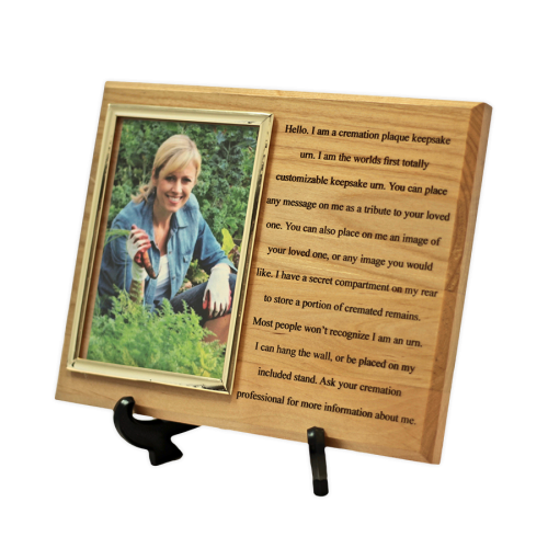 Red Alder Memorial Keepsake with Photo