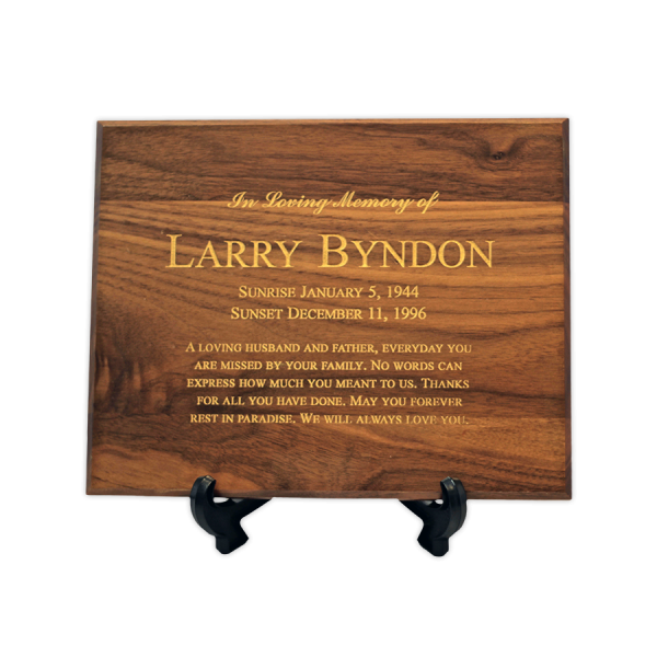 Custom Cremation Plaque Memorial