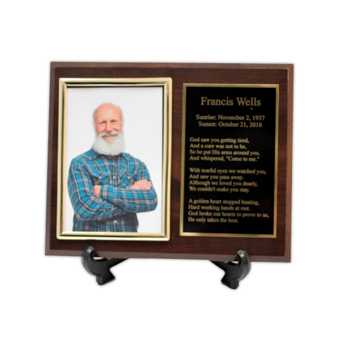 Custom Cremation Keepsake Picture Urns