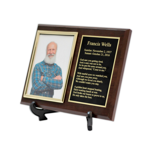 Customized Cremation Plaque Keepsake Urn