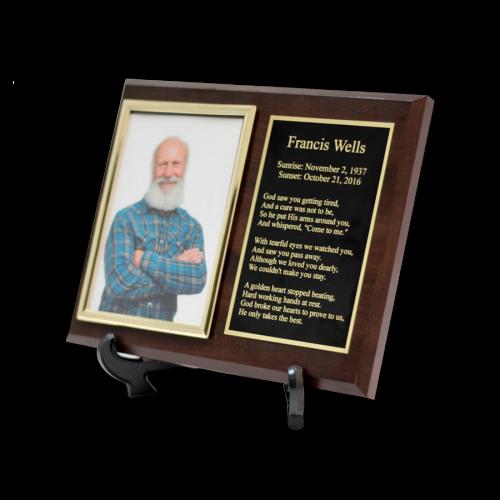 Customized Cremation Plaque Keepsake Urn