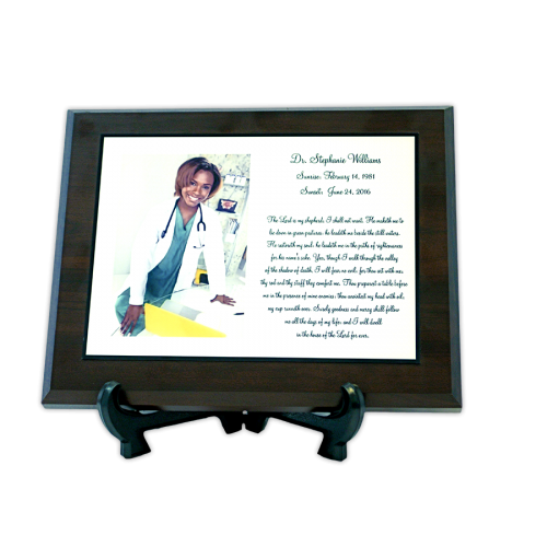 Custom Cremation Memorial Plaque