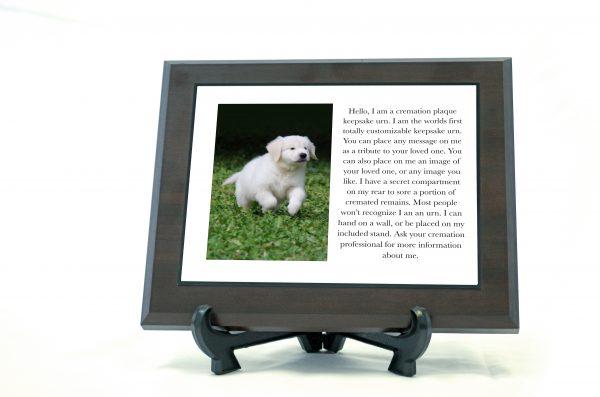 Single Plate Pet Keepsake Urn