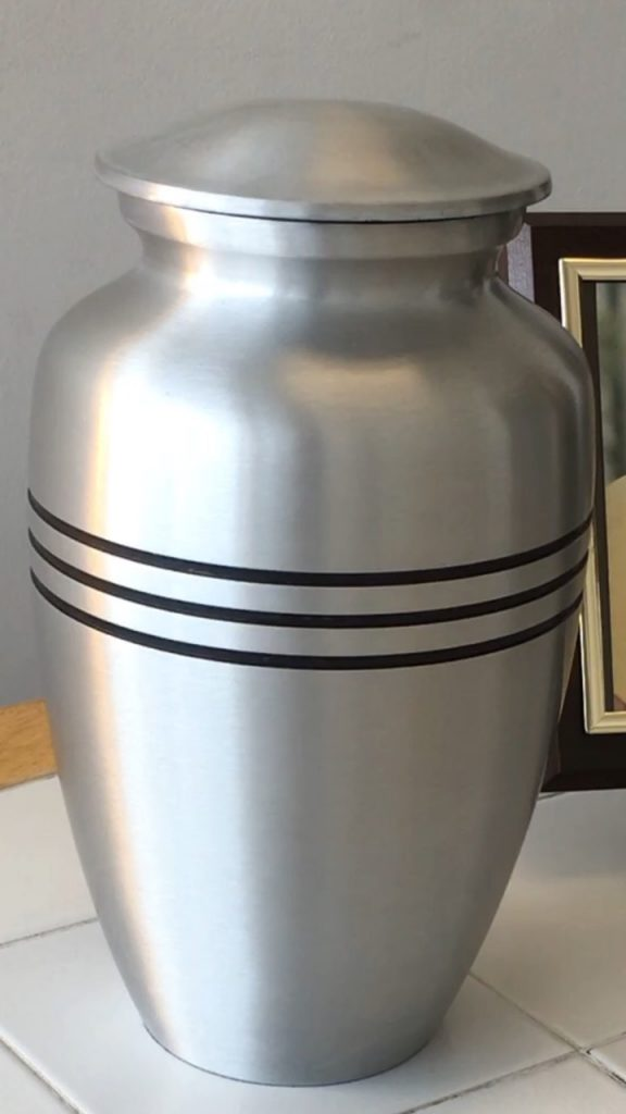 Classic Silver Cremation Urn